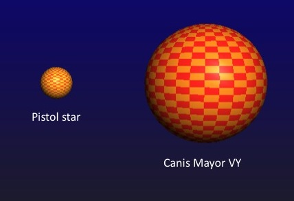 Pistol Star Compared to the Sun (page 2) - Pics about space
